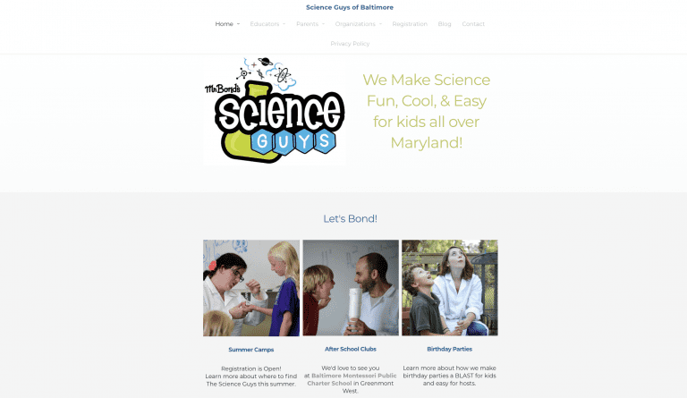 The Science Guy's previous homepage