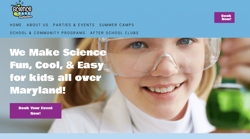 The Science Guys of Baltimore are science educators based in the Baltimore/DC area. Mended Digital assister her with their website redesign.